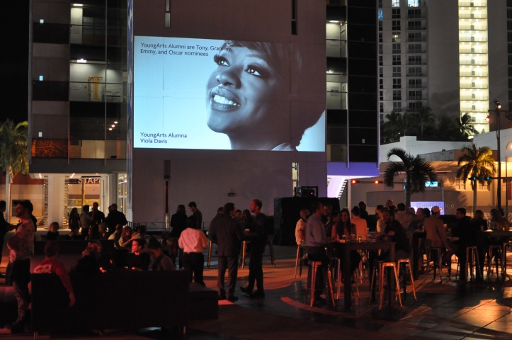 YoungArts opening event at the Bacardi campus in downtown Miami.